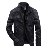 JOOBOX Male Leather Jacket Warm Fleece Lining Men Winter Jackets Business Coat Fashion Streetwear Man Biker Faux Leather Jacket