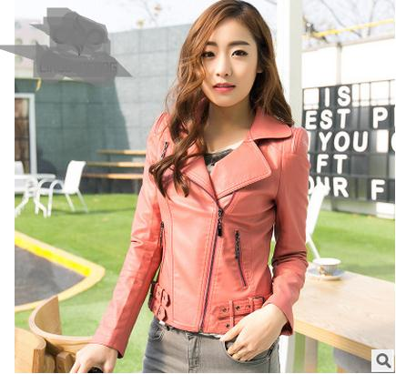 Spring Autumn Womens Leather Jacket Casual Pu  Leather Coat Large Size Faux Leather Jackets Female Outwear Clothes S/4Xl J1740