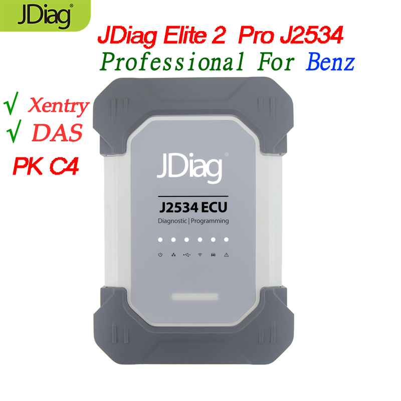 US $350 0 |JDiag Elite2 Pro J2534 Benz auto diagnostic tool wifi EPC/WIS/  Xentry/ DAS/ Remove NOx TORGUE V07 2018 software PK MB STAR SD C4-in Code
