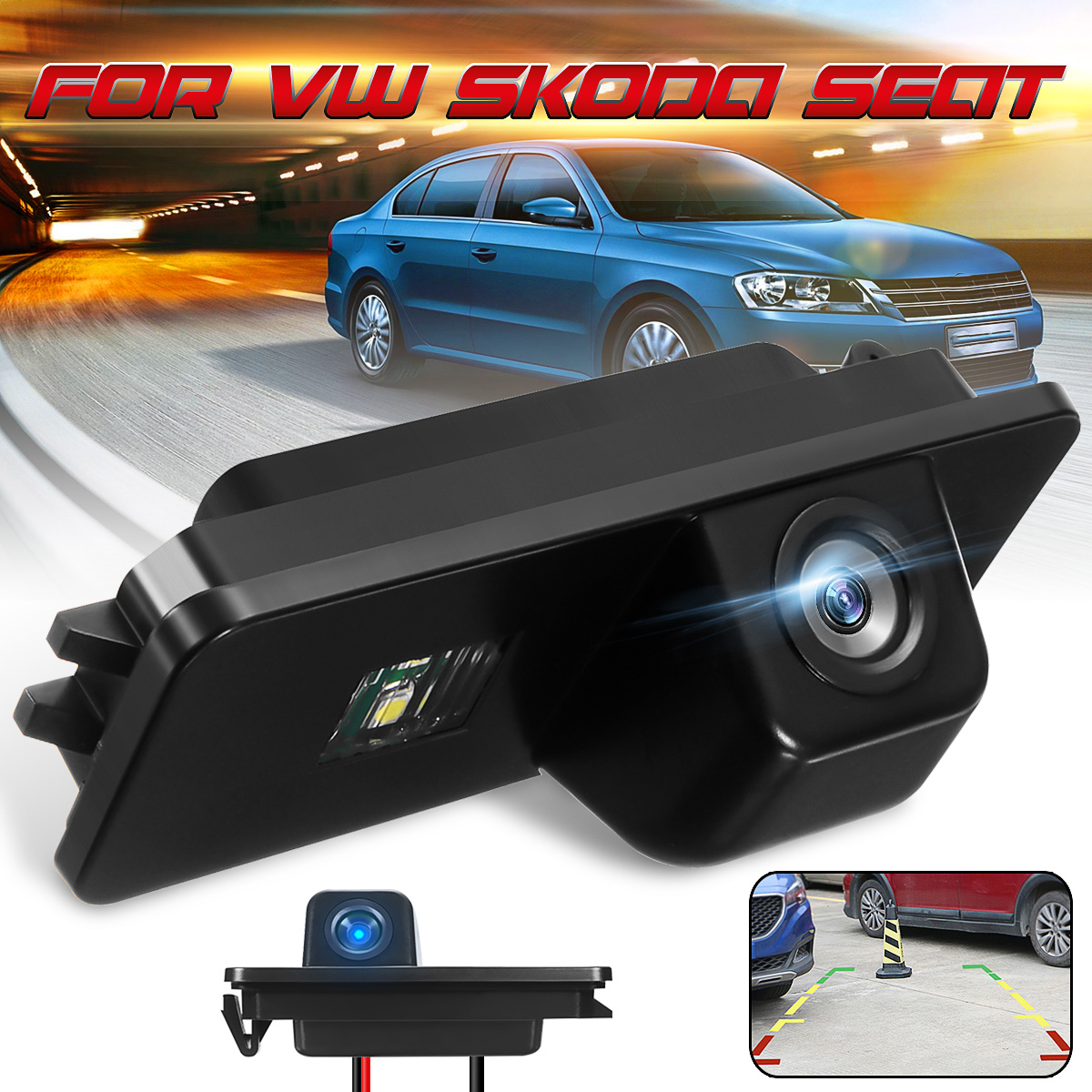 Car Rear View Reverse Camera For VW For Polo 2C Bora Golf MK4 MK5 MK6 Beetle Leon Backup Rearview Parking