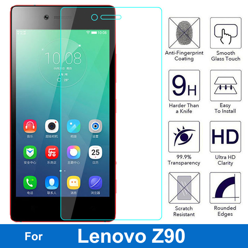 Screen-Protector Tempered-Glass-Film Shot Lenovo Vibe Original for Z90 3-7 9H Z90-7 Dual-Sim