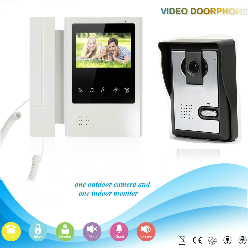 YobangSecurity 4.3inch Color Video Door Phone Waterproof Camera Monitor Rain Cover With Doorbell Home buy monitor cover