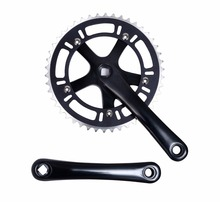 цена на Fixed Gear Bike 46T Crankset  chainwheel accessories Cranks Single  Speed road Bicycle Crankset free shipping