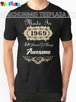 Teeplaza Interessant Bilder Baumwolle Rundhals In 1969 48 Jahre Als Super Kurzhülse Shirts Für Männer