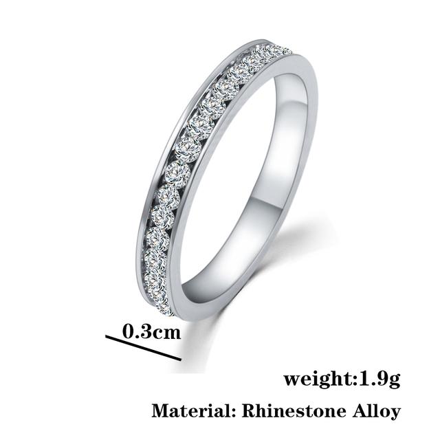 Crystal Wedding Ring