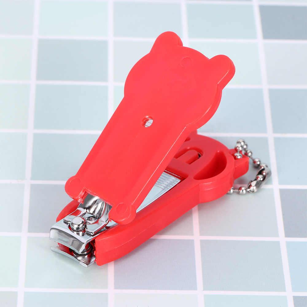 Bebê cortador de Unhas do Dedo Clippers Trimmer Tesoura Cortador de Unhas Manicure Ferramenta Da Arte Do Prego com Keychain Mini Animal Dos Desenhos Animados Projeto