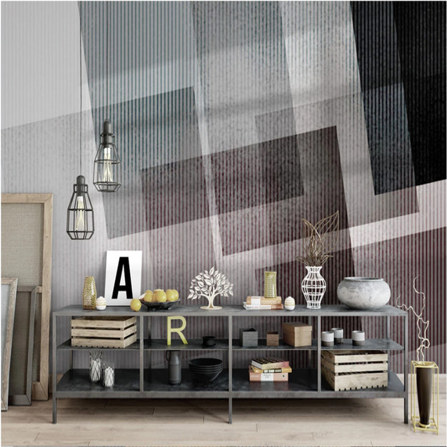 low cost custom hand painted abstract art mural wallpapers modern