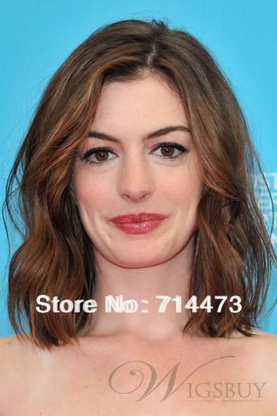 Anne Hathaway Bob Haircut 100 Indian Hair Full Lace Wig About