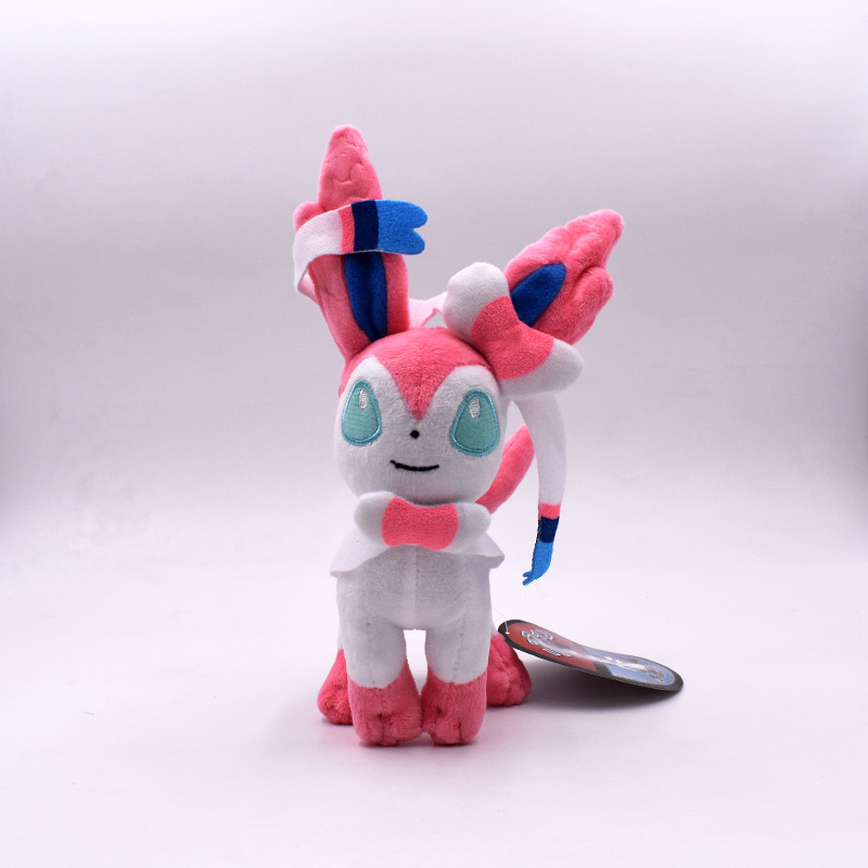 15-20cm Eevee Standing Sylveon Pluch Toy Cartoon Anime Peluche Soft Stuffed Doll Baby Toy Gift For Children Free Shipping стоимость