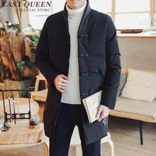 21478b1dc8 Japoński streetwear mężczyzna okopu płaszcz odzież wierzchnia mężczyzna  kimono kurtka mężczyźni zimowe ubrania 2018 mężczyźni parka