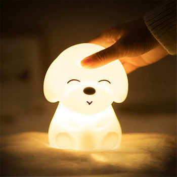Colorful DOG LED Night Light Animal Light USB Rechargeable Silicone Soft Cartoon Touch light Children Night Lamp Bedroom Light - DISCOUNT ITEM  49% OFF All Category