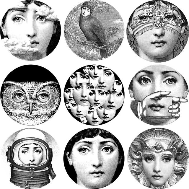 Piero Fornasetti Coasters Fornasetti Face Cup Mat Placemat Drying Mat Decoration 9 Pieces  sc 1 st  AliExpress.com & Piero Fornasetti Coasters Fornasetti Face Cup Mat Placemat Drying ...