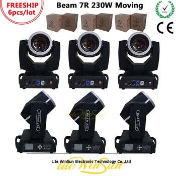 Litewinsune 6 sztuk FREESHIP ostre wiązki R7 230 W oświetlenia scenicznego DMX 16 kanałów 24 pryzmat efekt