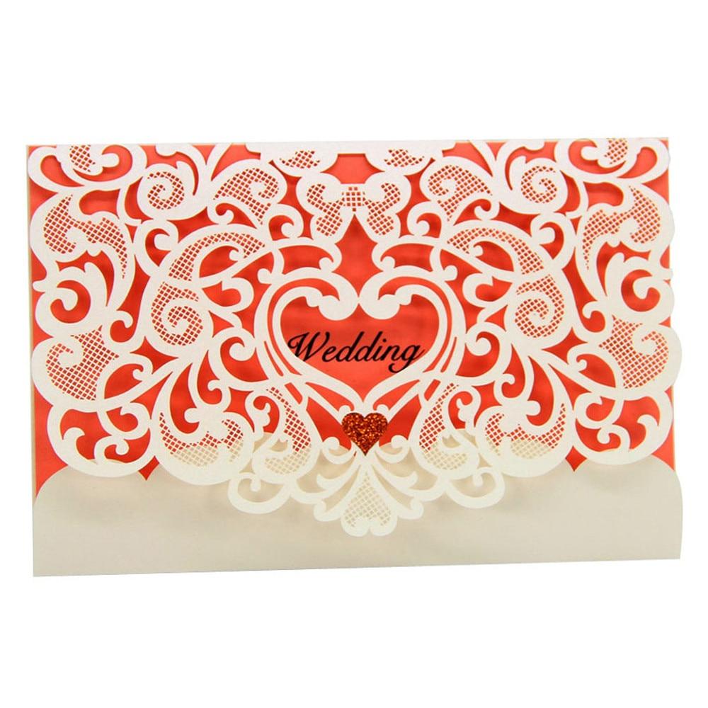 9 Styles 10pcs/set Romantic Wedding Invitation Cards Elegant Weeding ...