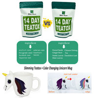 14 Day Teatox Skinny Fat Burning Day And Night Body Slimming & Detoxing Healthy Weight Loss+Color Changing Unicorn Mug Tea Cup