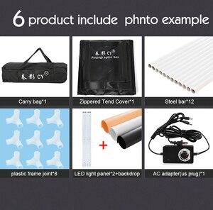 Image 5 - CY 80*80 Photo Studio LED soft box Shooting photo light tent set+3 Backdrops+dimmer switch Childrens clothing shoting tent kits