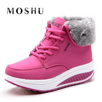 Women Snow Boots Female Plush Botas Super Warm With Fur Winter Shoes Zapatos Mujer