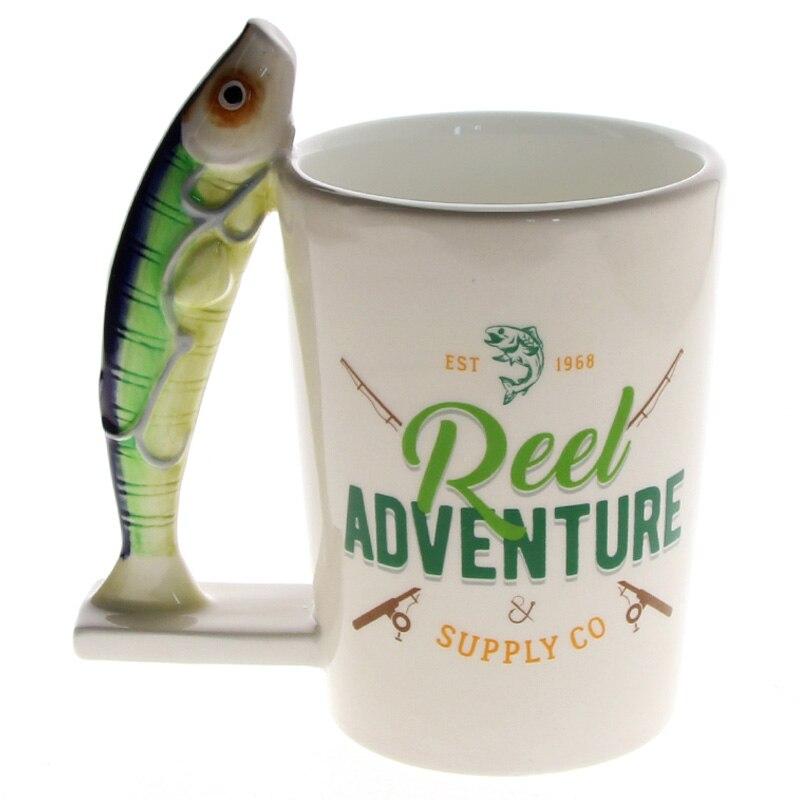 1 pieza río novedad sardinas peces taza Fisher hombre taza de café taza de  Taza de 9960d8f471f