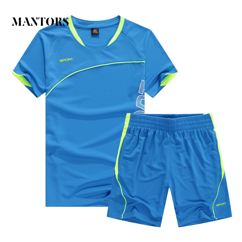 Summer Men Casual Tracksuit 2019 New Solid Sportswear Male T-shirts+Shorts 2PC Sets Sudaderas Hombre Short Sleeve Fitness Suit