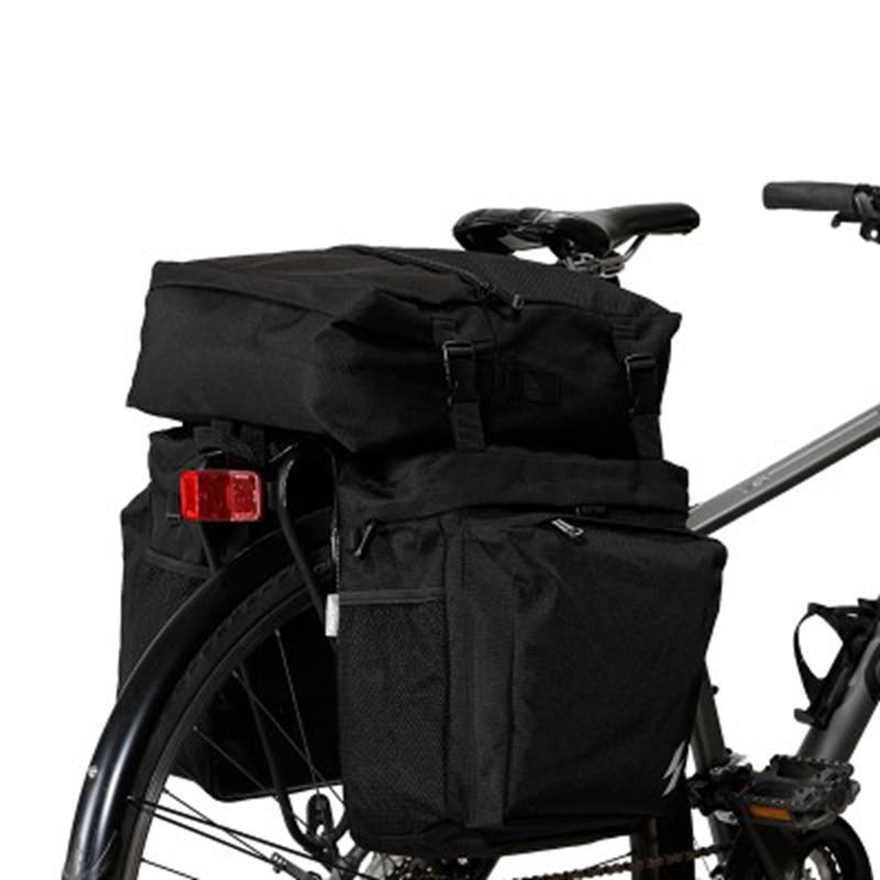Waterproof 3 in 1 Cycling Bicycle Rear Rack Bike Pannier Seat Bag Roswheel 37L
