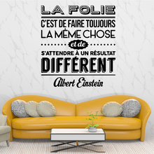 Classic french text Family Wall Stickers Mural Art Home Decor Removable Sticker Diy Decoration Accessories