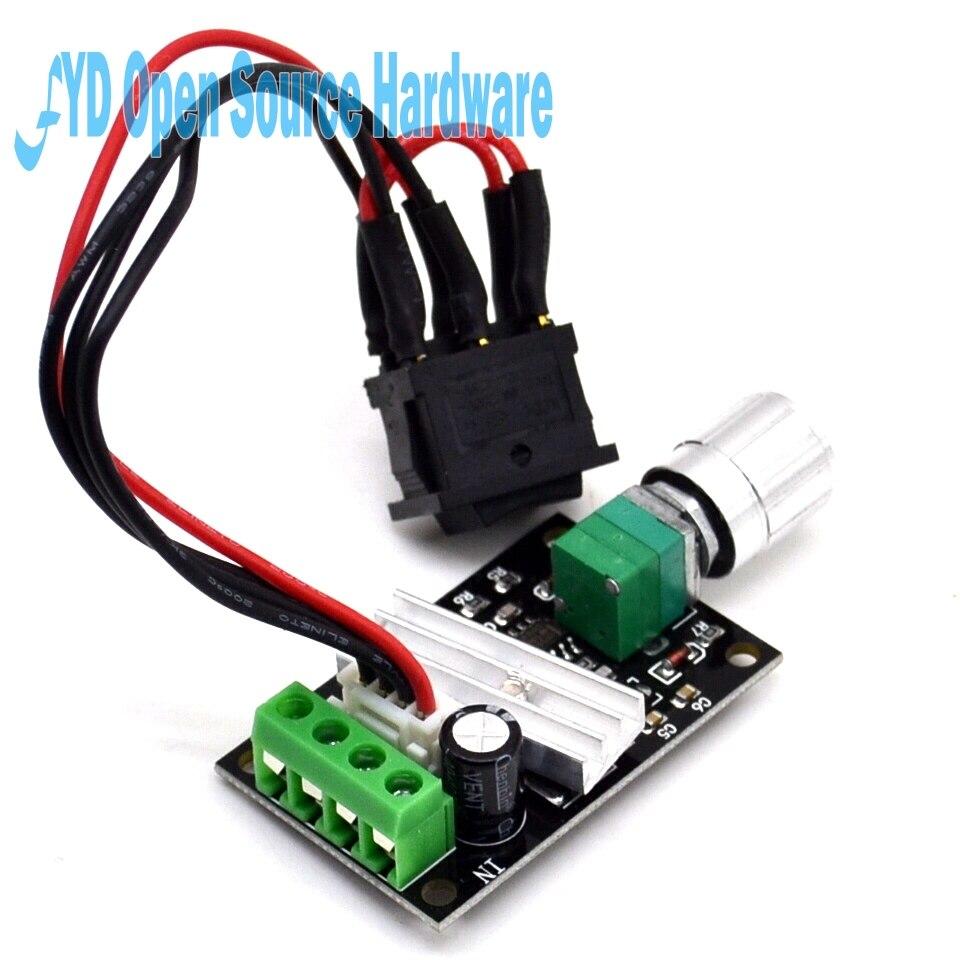 Pwm Dc Motor Speed Regulator 6v 12v 24v 3a Switch Reverse Variable Wiring Diagram