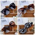 Moonar Gafas de sol Óculos de Sol Da Marca 2016 Do Gato Do Vintage olhos Redondos óculos de Sol Das Mulheres Dos Homens Elegante Semi-Rim Eyewear Oculos de Sol