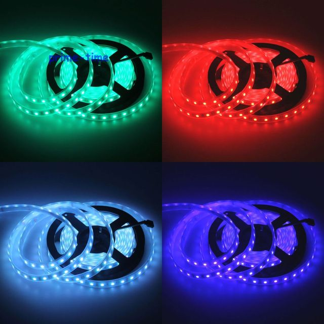 IP68 Waterproof 5050 LED Strip,12V 60LED/M 5M flexible Strip,White Warm White RGB,Underwater Use for Swimming Pool,Fish Tank 3