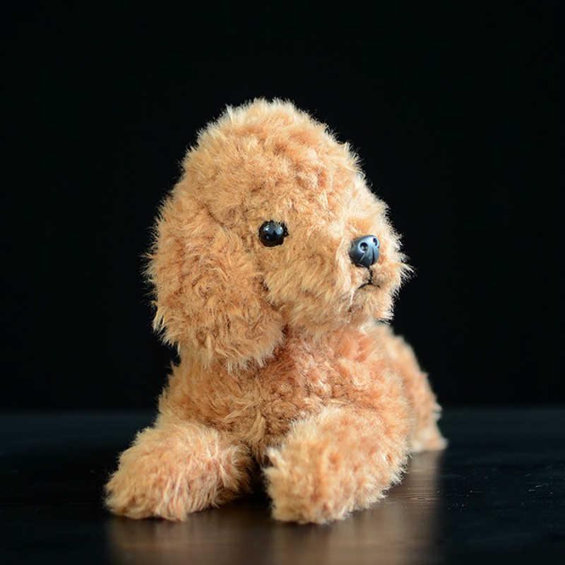 1 pcs 30 cm Simulação Ajoelhado Amarelo de Pelúcia Cão cão boneca Simulação Boneca Animal de Pelúcia presente do bebê Brinquedo do bebê
