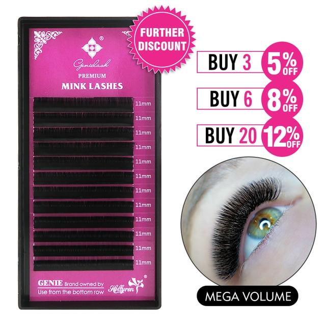 GENIELASH 0.03/0.05 individual eyelashes extension mink eyelash extension thin soft mega volume eyelashes makeup lash extensions 1