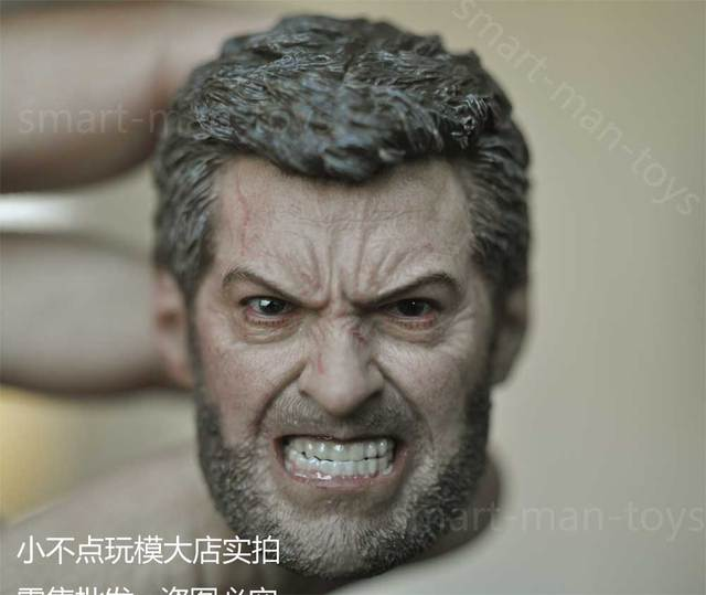 253514535a2 custom 1 6 Wolverine Head Sculpt ANGRY LOGAN For 12