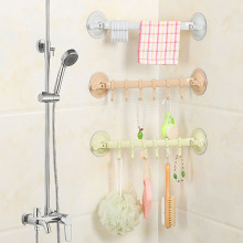 1PC Adjustable Bathroom Hook Rack Double Suction Cup Towel Hanging Shelves Holder Lock Type Sucker Kitchen Accessories