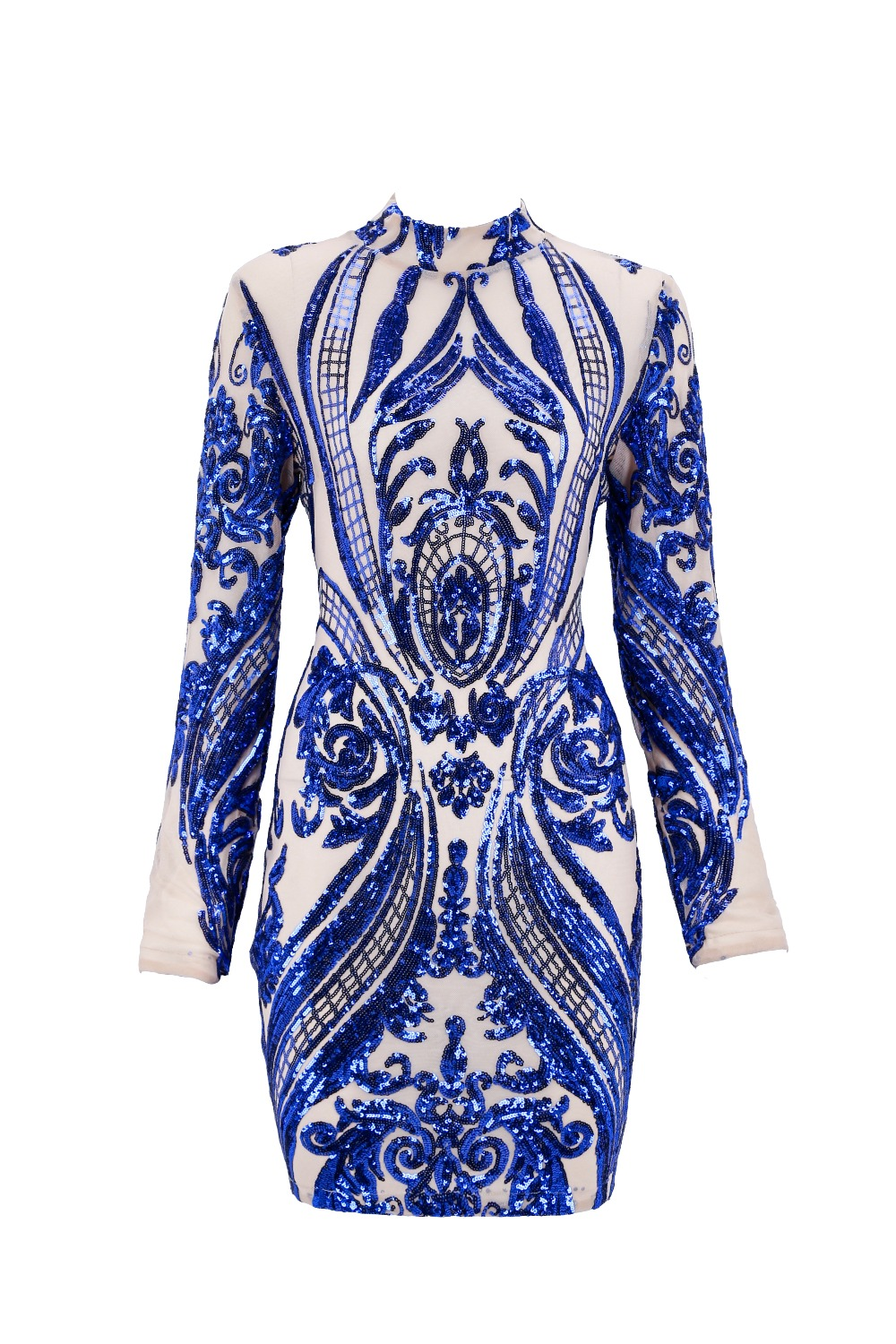 High quality 2017 new winter women s dress wholesale gold blue black sequin  long sleeve dress party dress dropshipping A 79-in Dresses from Women s  Clothing ... a2654390b967