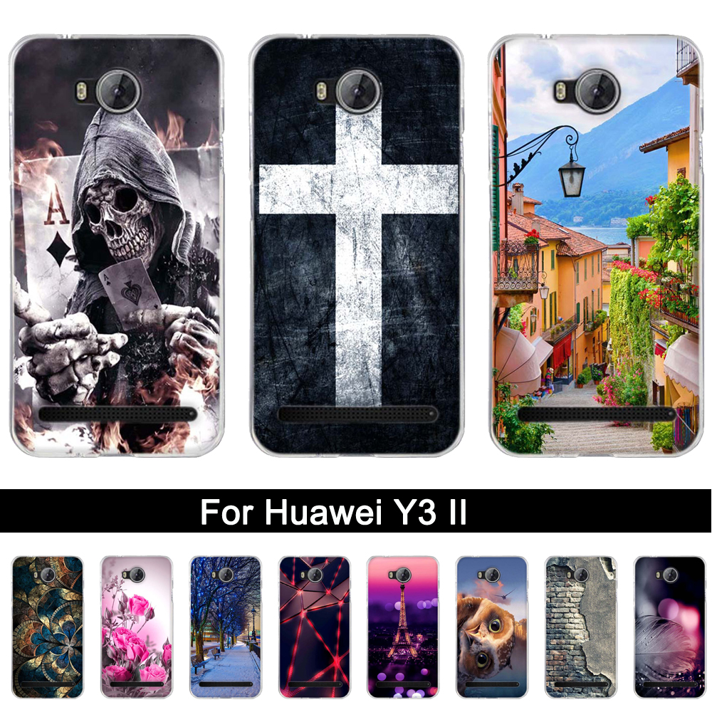 ₩Soft Silicone Cases Cover For Huawei Y3II Y32 y32 Print TPU Back ...
