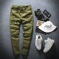 2016 Мужская Армии Повседневные Брюки-Карго 100% Хлопок Моды Мешковатые Штаны для Мужчин Высокое Качество Марка Плюс Размер Свободные Брюки Мужчины S199