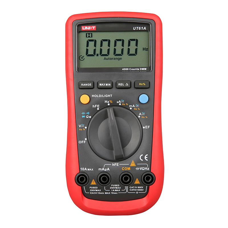 UT61A  High Precision Handheld Multimeter Ammeter Ohm Volt Meter Digital Universal Meter LCD Count 3999 AVO Meter UNI-T dt830b handheld digital multimeter electrician with a to send meter pen