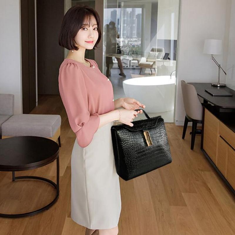 Woman Fashion Genuine Leather Business Handbags Luxury Quality Ladies Shoulder Crossbody Bags Crocodile Pattern Messenger Bag