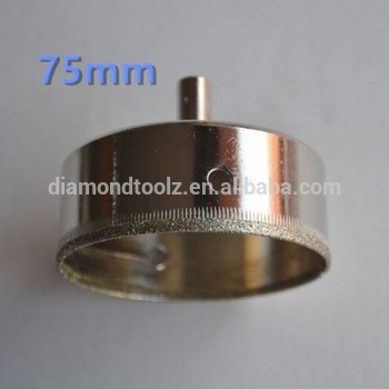 Купить Talentool 75 мм Ручной Инструмент для Резки Стекла Стекла Алмаз Отверстие увидел Сверла для сверления отверстий в стекле керамические плитка дешево