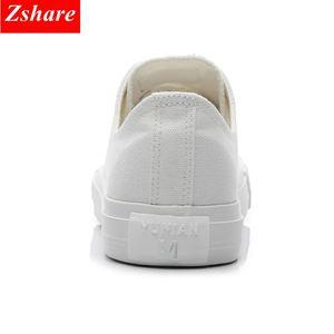 Image 5 - Chaussures en toile vulcanisées noires, blanches et jaunes pour femmes, baskets tendance, chaussures plates grande taille 35 46, collection chaussures décontractées