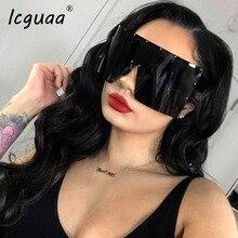 Trend Oversized Sunglasses Women Men Rivet Sun Glasses One-piece Windproof Goggl