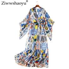V-hals Grote jurk Custom