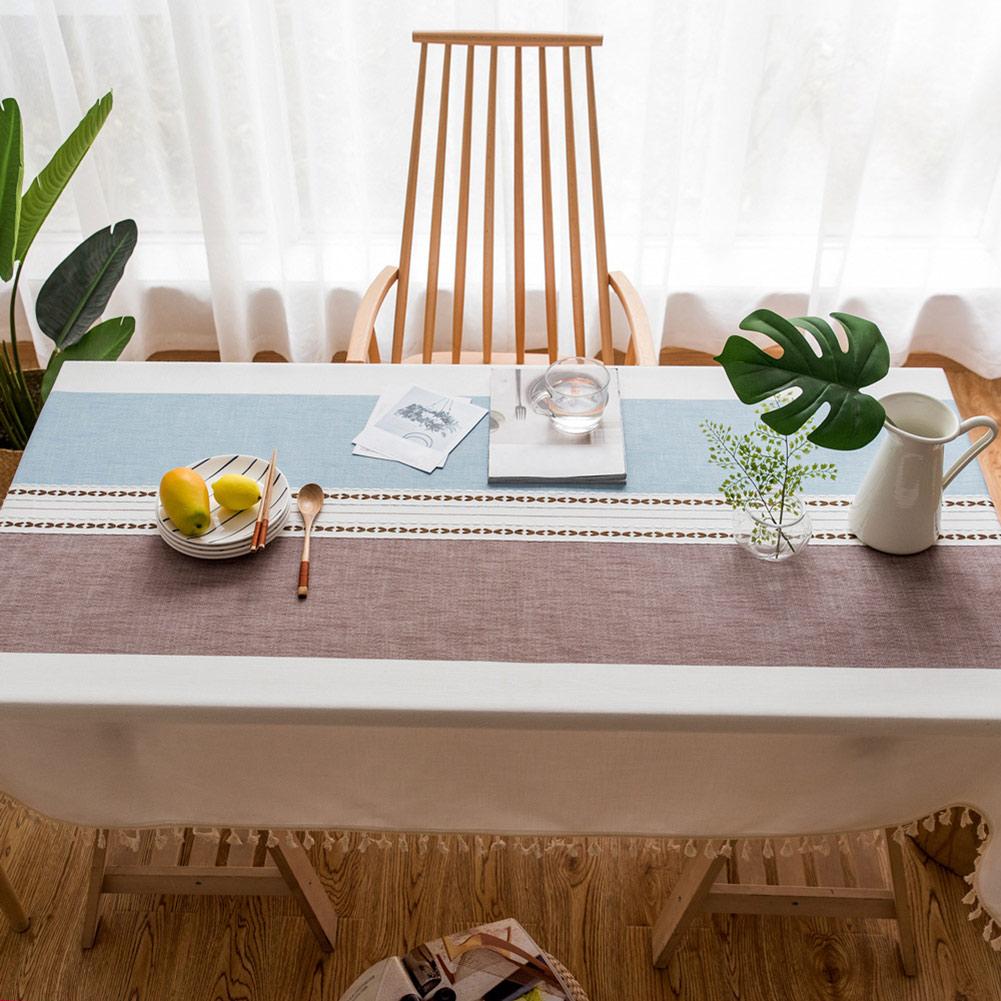 Cotton Linen Tablecloth Minimalist Pattern Rectangle for Kitchen Living Room Decorations WXV Sale