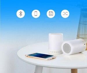 Image 3 - Kuliai night light com bluetooth speaker, SHAVA portátil sem fio bluetooth speaker touch control LED color night light