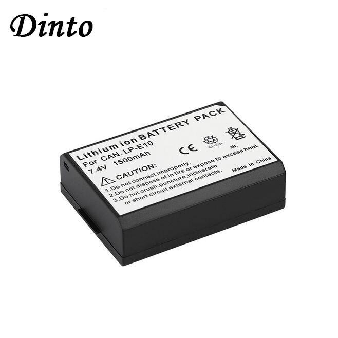 Dinto 1pc LP-E10 LPE10 7.4V 1500mAh Rechargeable Li-ion Camera Battery For Canon KISS X50 EOS 1100D 1200D 1300D LP E10