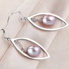 LINDO Fashion Brand Wedding & Engagement Jewelry Solid 925 Sterling Silver Long Earrings With Top Quality Pearls Wedding gift