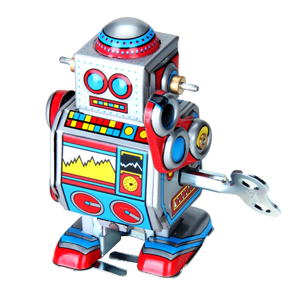 Generic Vintage Retro Multicolour Mechanical Robot Tin Toy Collection Gift