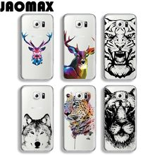 Jaomax Animal Head Tiger Deer Lion King Case For Samsung Galaxy J7 A3 A5 Note 3 4 5 J3 J5 Transparent Silicone Phone Cover Quote