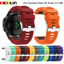 26mm Watchband Strap for Garmin Fenix 5X Plus Smart Watch Quick Release Silicone Easy fit Wrist For Garmin Fenix 3 HR Band Strap leather easy fit watch strap quick release bracelet belt 26mm for garmin fenix 3 fenix 5x 5x plus smart watch band wristband