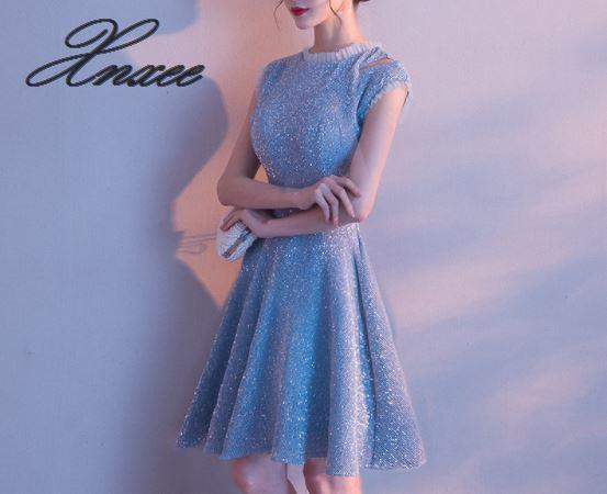 Robe femme 2019 nouveau tempérament de banquet de fête était bleu mince-in Robes from Mode Femme et Accessoires on AliExpress - 11.11_Double 11_Singles' Day 2