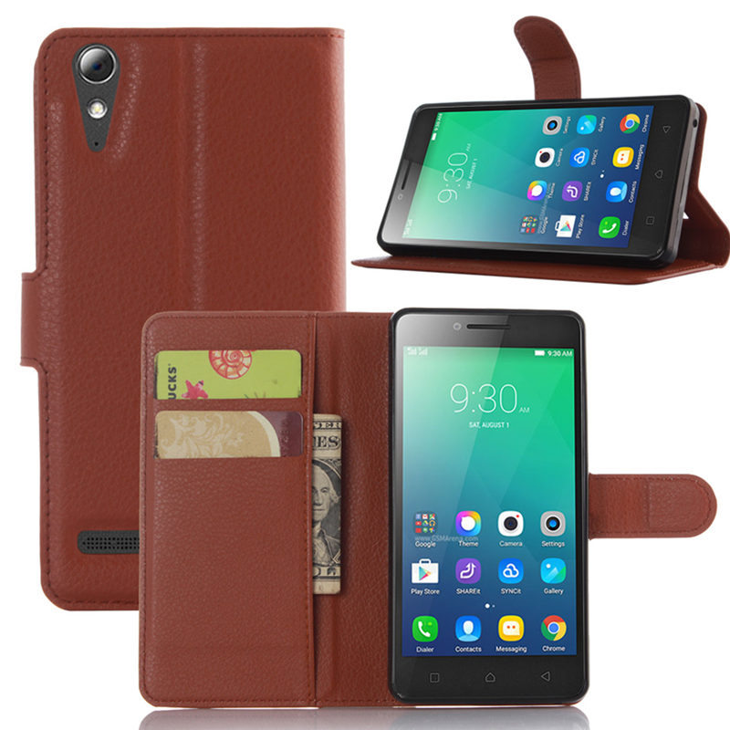 2016 New Fashion Leather Flip Back Cover Case For Lenovo A6000 Plus With Stand And Wallet